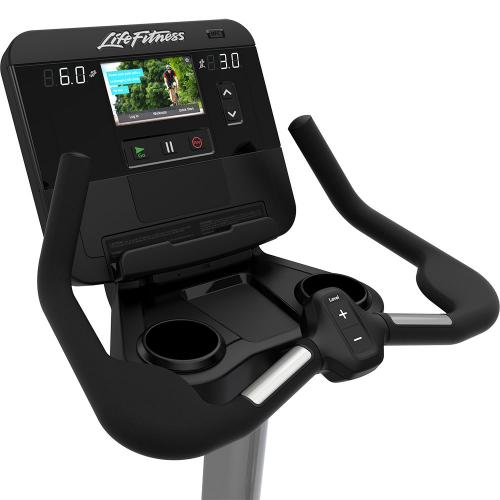 Life Fitness Integrity Series Upright Lifecycle Bike DX Screen